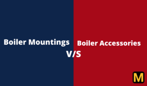 Difference between Boiler mountings and accessories