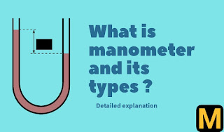 What is manometer? types,uses and advantages |The Mechanical post